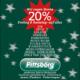 Werbeanzeige 20 % Samstag & Sonntag 11./12.Dezember 2020